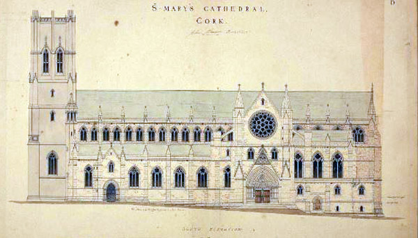 1851 &#8211; Design for St. Marys (North) Cathedral, Cork