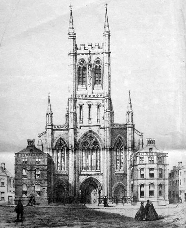 1890 – Unbuilt Design for Holy Trinity, Cork