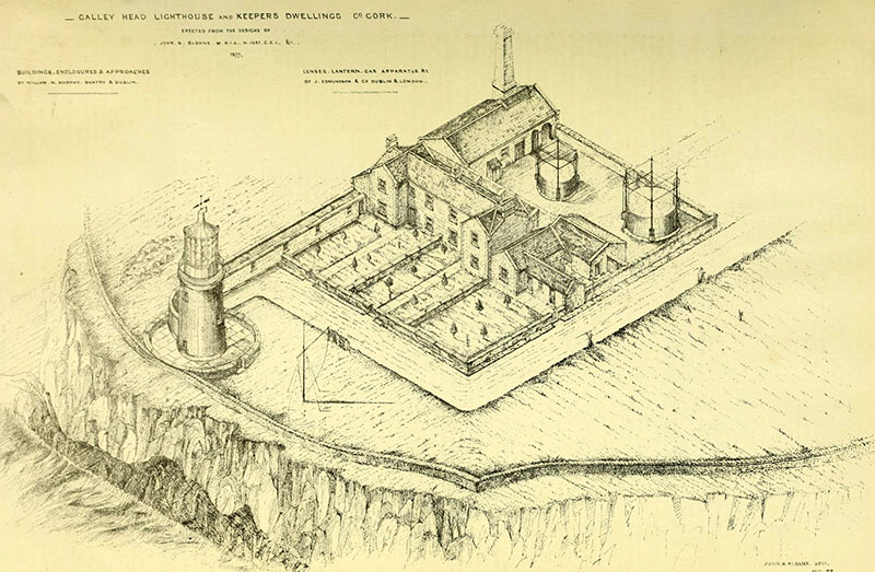 1875 – Lighthouse and Keepers Dwellings, Galley Head, Co. Cork