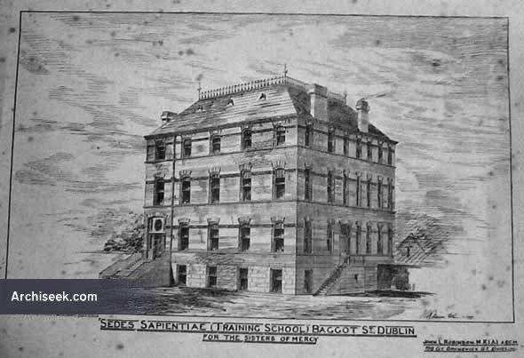 1879 – Sedes Sapientiae (Training School) Baggot St., Dublin