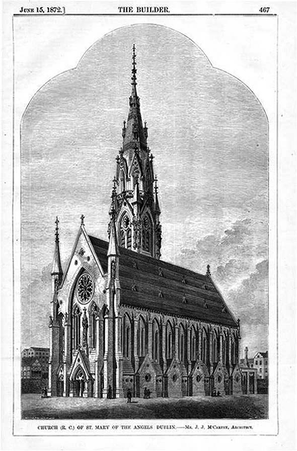 1872 – Design for St. Mary of the Angels, Church Street, Dublin