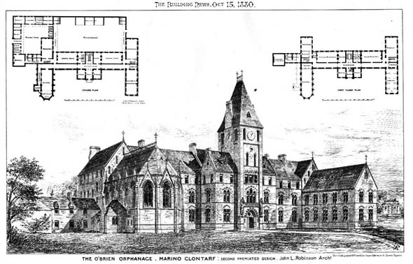 1880 &#8211; Design for O&#8217;Brien Institute, Marino, Clontarf