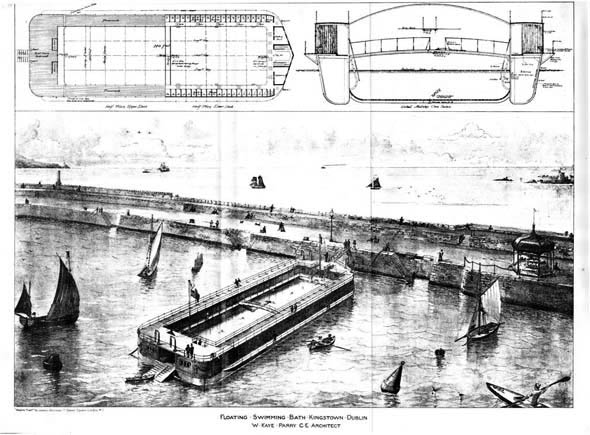 1888 &#8211; Floating Swimming Baths, Kingstown, Dublin