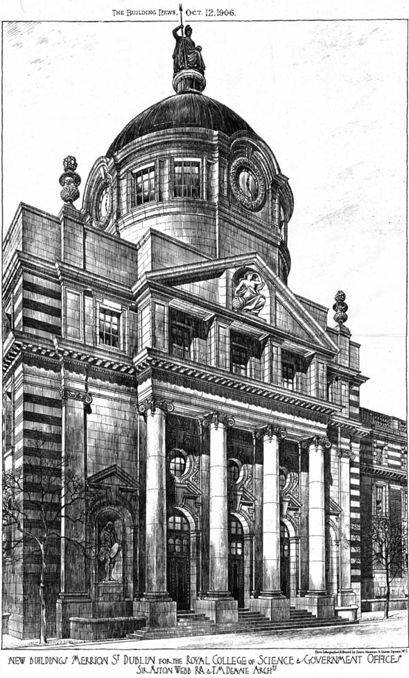 1906 – Design for Royal College of Science, Dublin