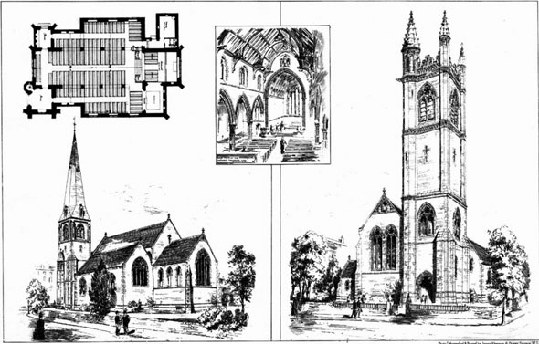 1886 &#8211; Unbuilt designs for St. Kevin&#8217;s Church, South Circular Road, Dublin