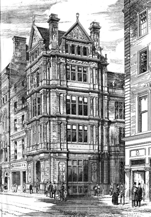 1886 &#8211; Design for No.7 Westmoreland Street, Dublin