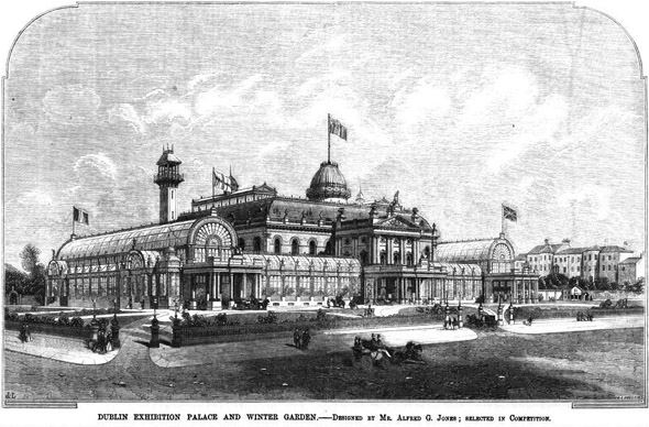 1863 &#8211; Design for Exhibition Palace &#038; Winter Garden, Dublin