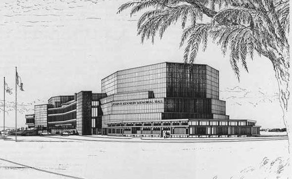 1966 – Design for John F. Kennedy Memorial Hall, Dublin