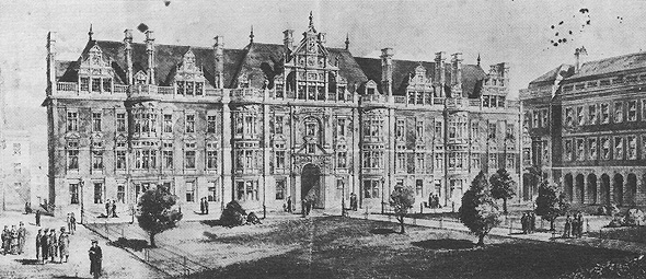 1884  – Proposed New Chambers, Trinity College Dublin