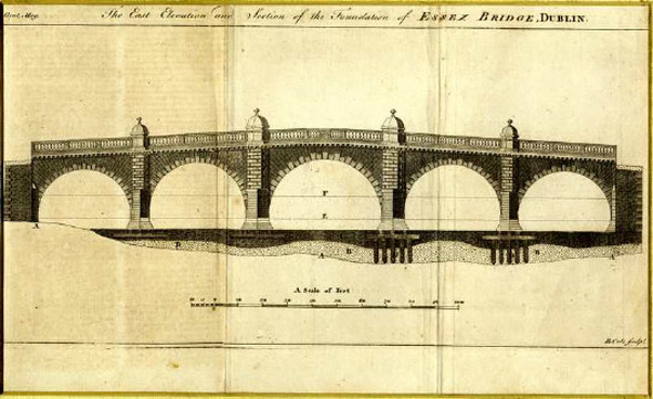 1755 &#8211; Essex Bridge, Dublin