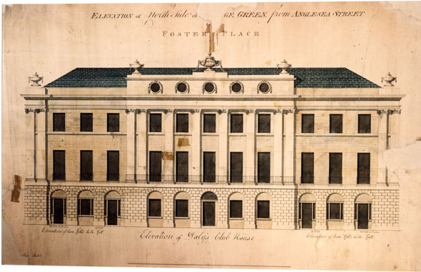 1790 &#8211; Dalys Club House, College Green, Dublin