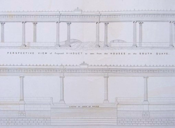1837 – Proposed Railway Colonnade, Dublin