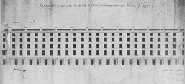 1791 – Design for Dame Street, Dublin