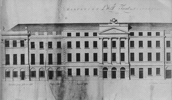 1789 &#8211; Designs for Foster Place, Dublin