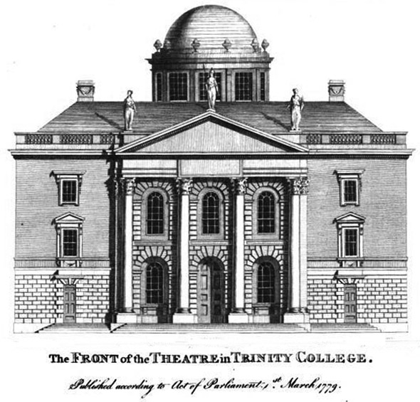 1780 &#8211; Design for Theatre, Trinity College Dublin