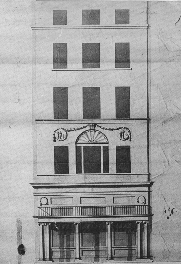 1799 &#8211; Design for Westmoreland St., Dublin