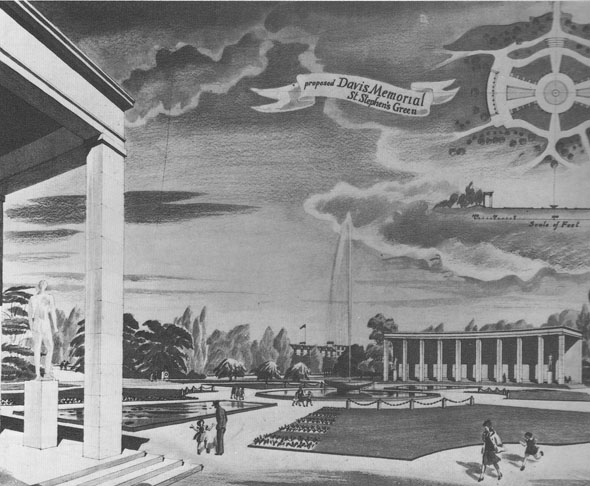 1945 – Proposed Davis Memorial, St. Stephen's Green, Dublin