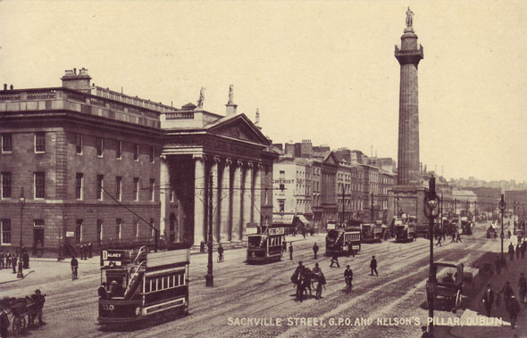 1809 &#8211; Nelson&#8217;s Pillar, O&#8217;Connell St., Dublin