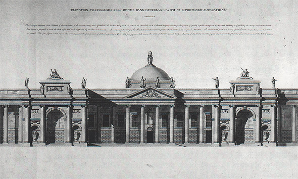 1802 &#8211; Proposal for Bank of Ireland, College Green, Dublin