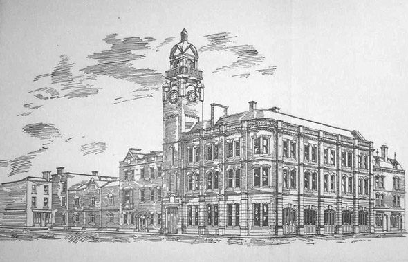1905 &#8211; Design for Fire Station, Tara Street, Dublin