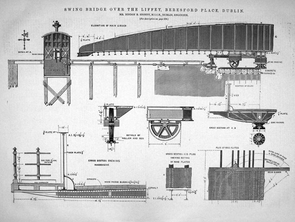 1879 &#8211; Design for Swing Bridge, Dublin