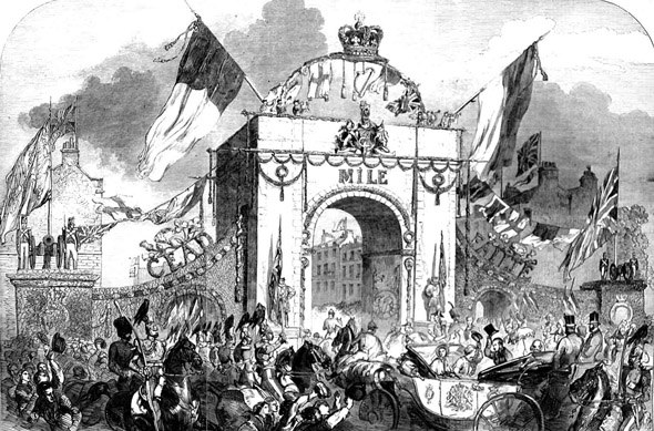 1849 &#8211; Royal Triumphal Archway, Baggot Street, Dublin
