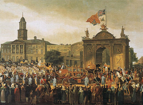 1821 – Royal Triumphal Arch, O'Connell St., Dublin