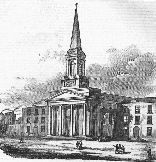 1828 &#8211; Uncompleted Design for St Nicholas of Myra, Dublin