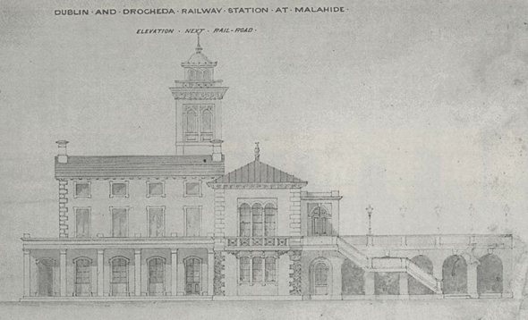1872 &#8211; Unbuilt Railway Station, Malahide, Co. Dublin
