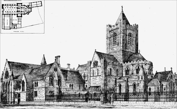 1871 &#8211; Design for Restoration of Christ Church Cathedral &#038; Synod House, Dublin