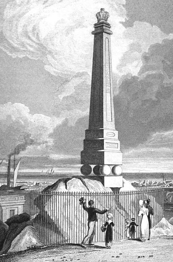 1821 – Memorial of Kings Visit to Ireland, Dun Laoghaire