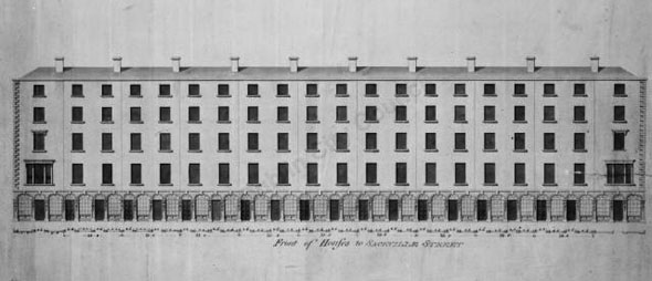 1780 &#8211; Design for houses on Sackville Street, Dublin