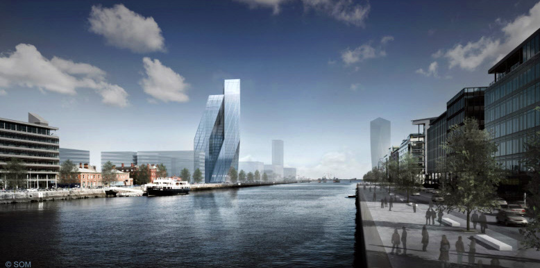 2009 &#8211; Tower Proposal, North Wall Quay, Dublin