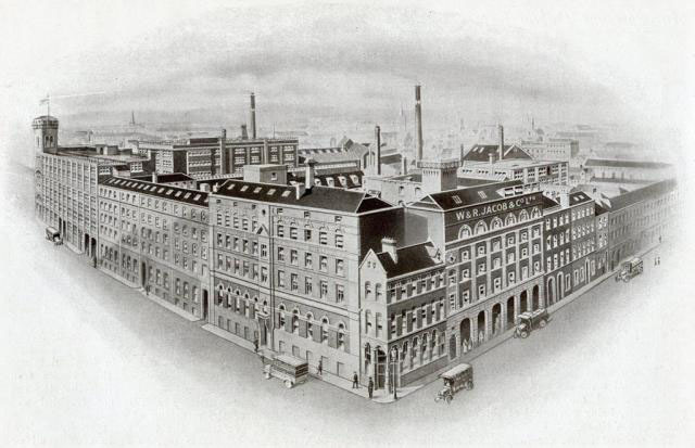 1853 –  W. & R. Jacob & Co.'s Biscuit Factory, Bishop Street, Dublin