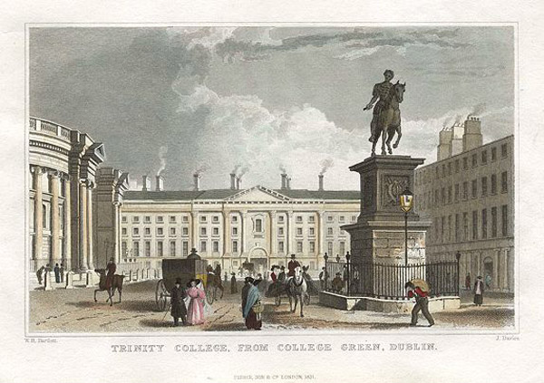 1701 &#8211; Statue of William of Orange, College Green, Dublin