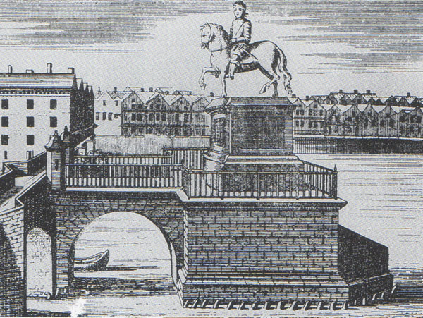 1722 – Statue of George I, Essex Bridge, Dublin