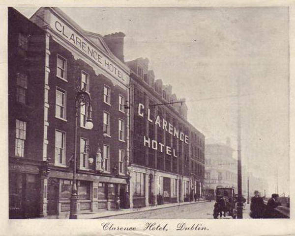 1852 – Clarence Hotel, Wellington Quay, Dublin
