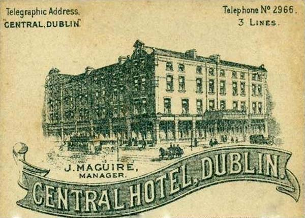 1887 – Central Hotel, Exchequer St., Dublin