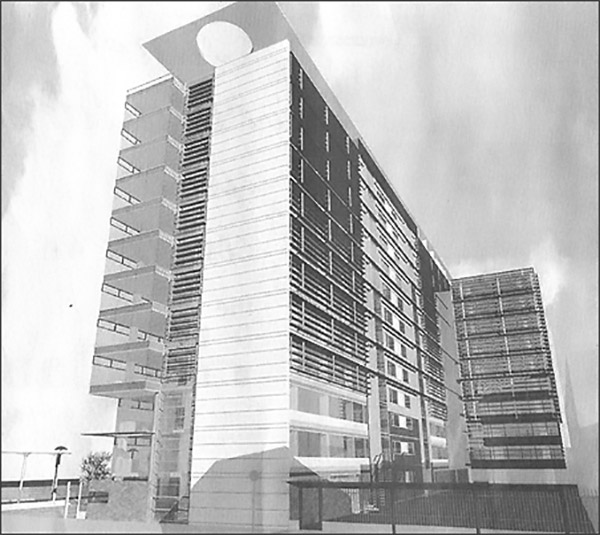 2002 – Unbuilt Proposal for Hawkins House, Dublin