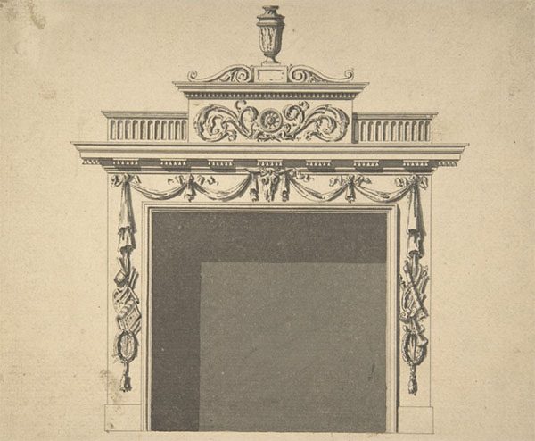 1762 – Design for Hall Chimney-piece, Charlemont House, Dublin