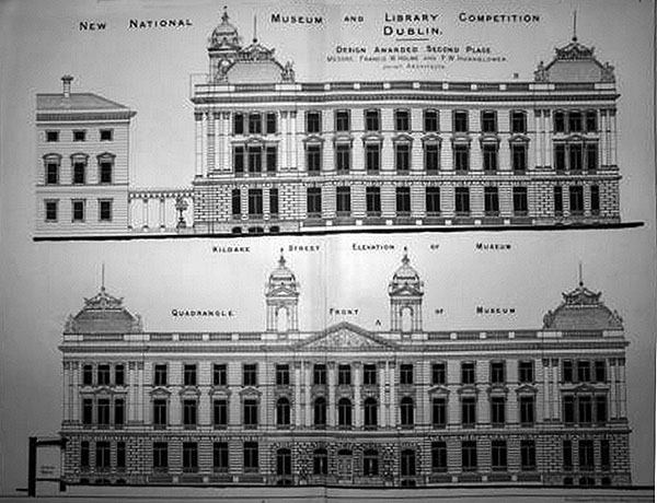 1883 – Second Placed Design for National Museum & Library, Dublin