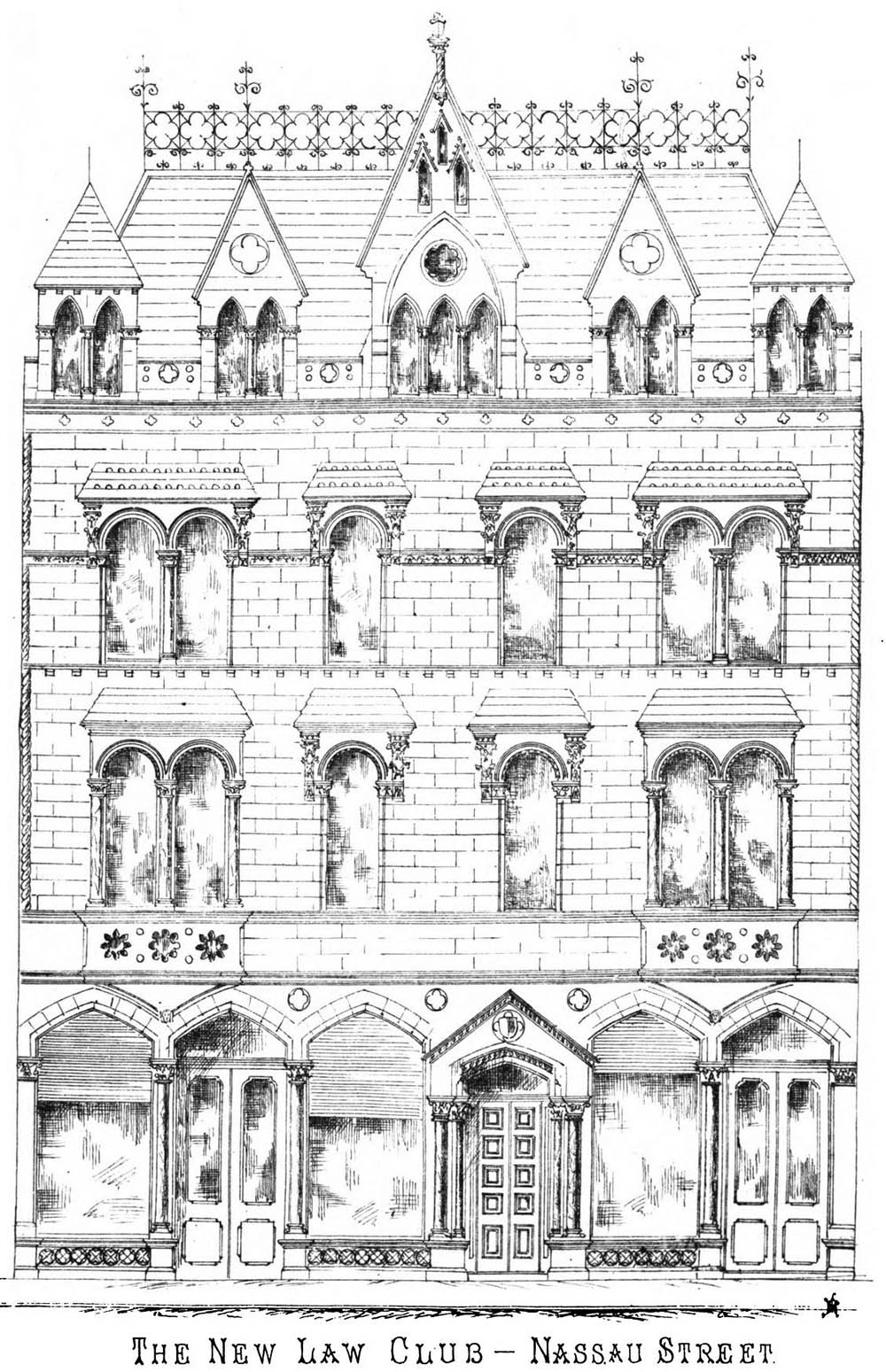 1870 – The Law Club, Nassau St., Dublin
