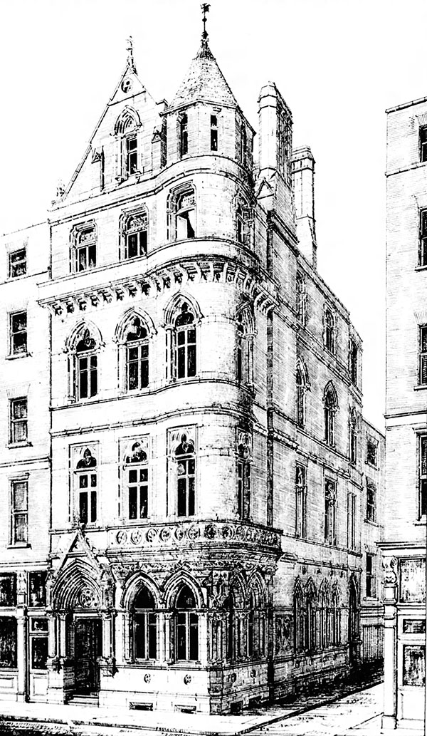 1888 – Design for Northern Assurance Co., Westmoreland Street, Dublin