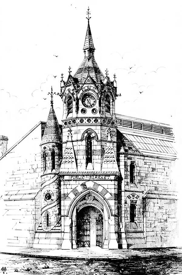 1869 – Design for Clock Tower & Market, Green St., Dublin