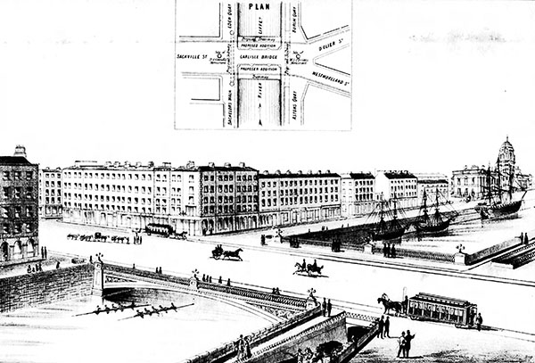 1870 – Design for O'Connell Bridge, Dublin