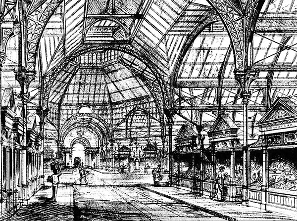 1879 – Design for South City Markets, Dublin