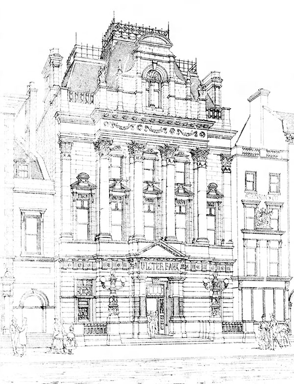 1889 – Design for Ulster Bank, College Green, Dublin