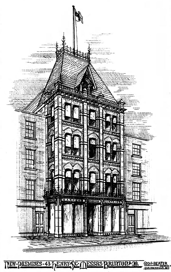 1879 – William Brunton & Co., No.43 Henry Street, Dublin