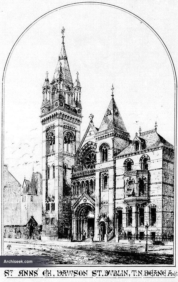 1868 – Design for St. Ann's Church of Ireland, Dawson Street, Dublin