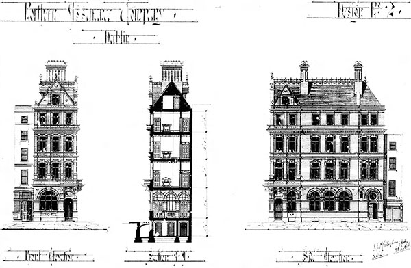 1888 – Second Design for Northern Assurance Co., Westmoreland Street, Dublin